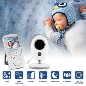 "XCSOURCE® Baby Monitor 2.4"" LCD Display Wireless Digital Video 2-Wege Talk Audio Nachtsicht Kamera HS840 - 2"